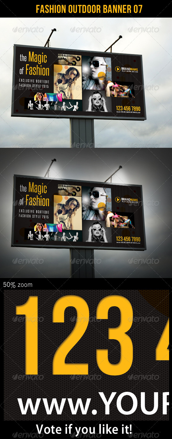 Fashion Outdoor Banner 07 - Signage Print Templates