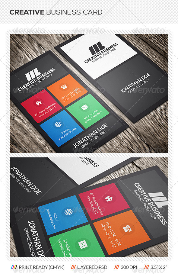 GraphicRiver Metro Style Business Card 5868217