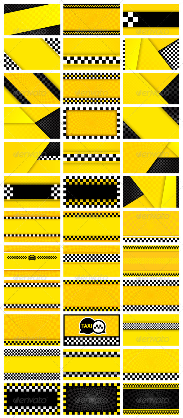 GraphicRiver 36 Taxi Backgrounds 5868601
