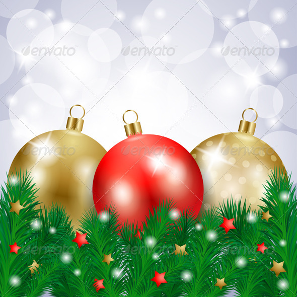 GraphicRiver Christmas Background with Baubles 5868705