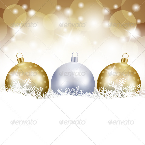 GraphicRiver Christmas Background with Baubles 5868713
