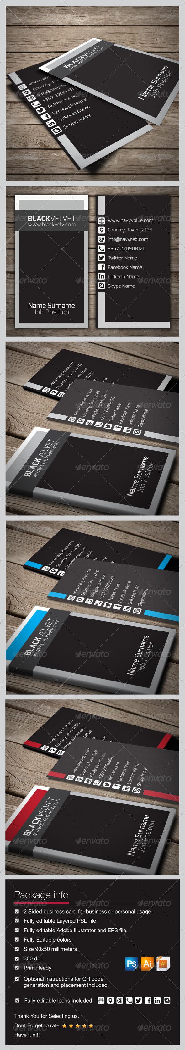 GraphicRiver Black Velvet Business Card 5868726