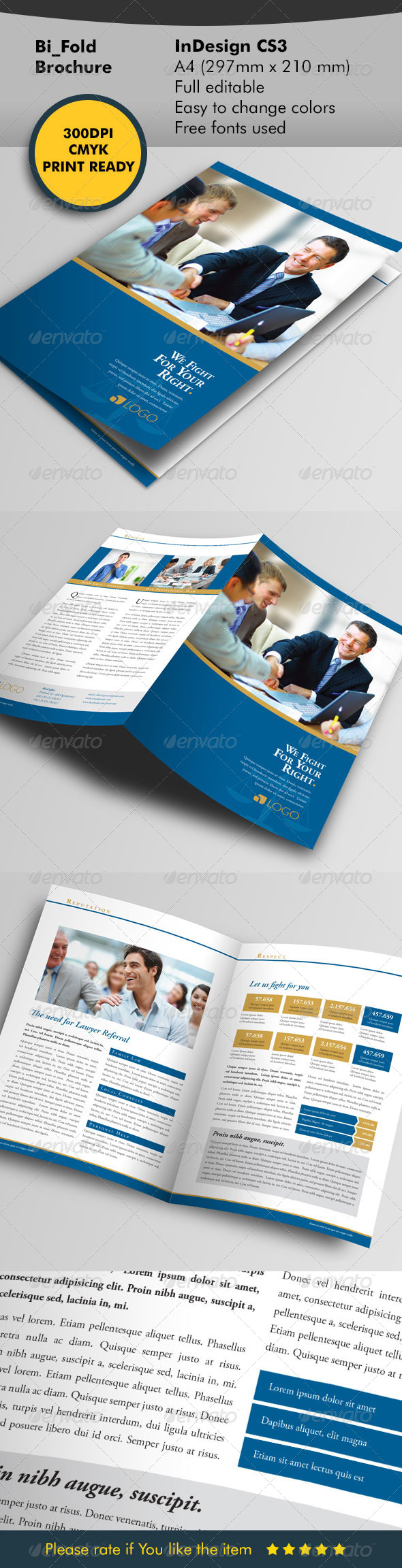 GraphicRiver Lawyer Bifold Template 5868759