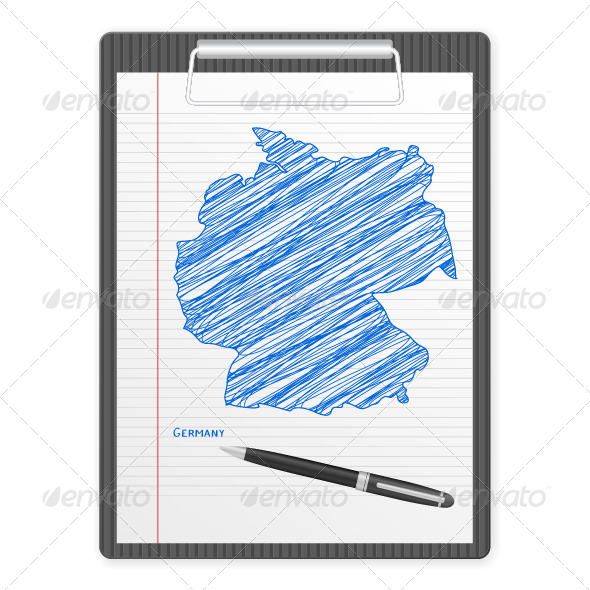 GraphicRiver Clipboard with Germany Map 5869028