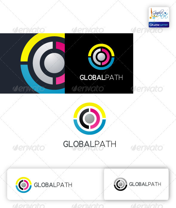 Global Path Logo - Abstract Logo Templates