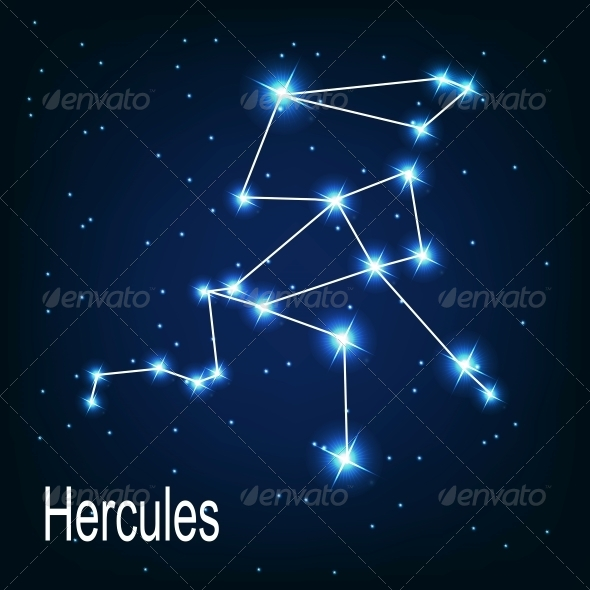 GraphicRiver The Constellation Hercules in Night Sky 5869278