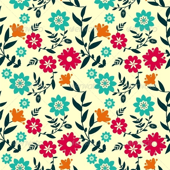 GraphicRiver Floral Pattern 5869362