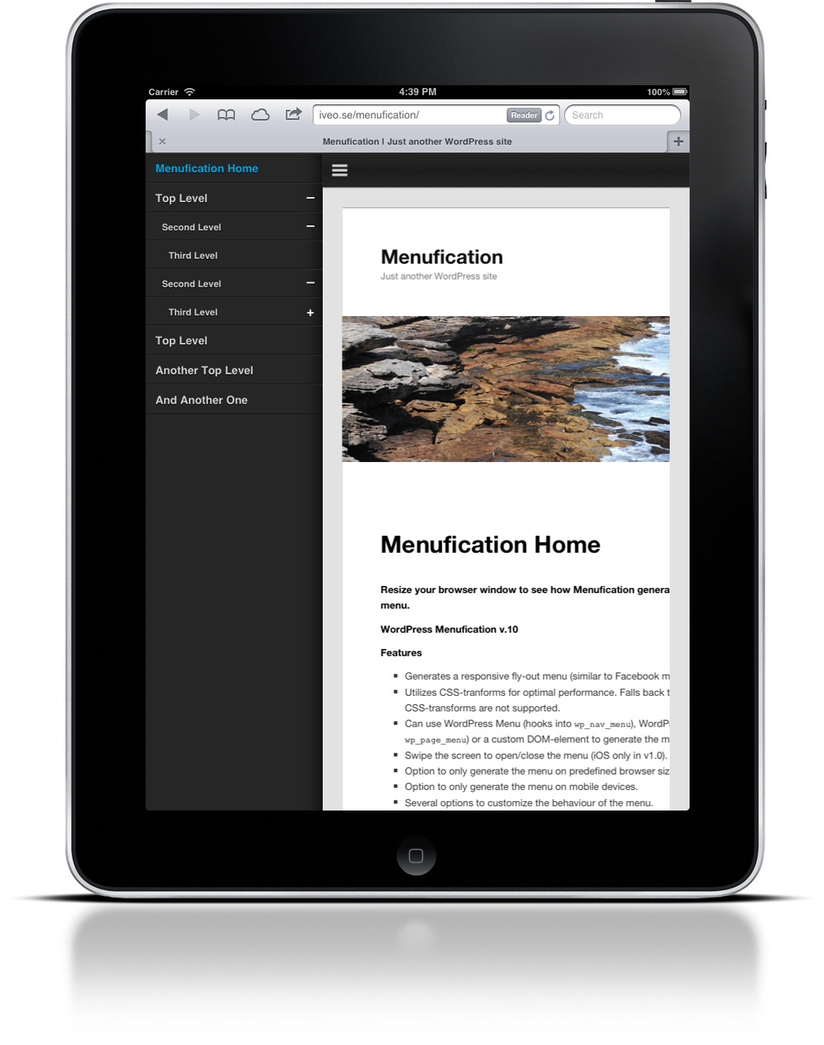 Wordpress Menufication