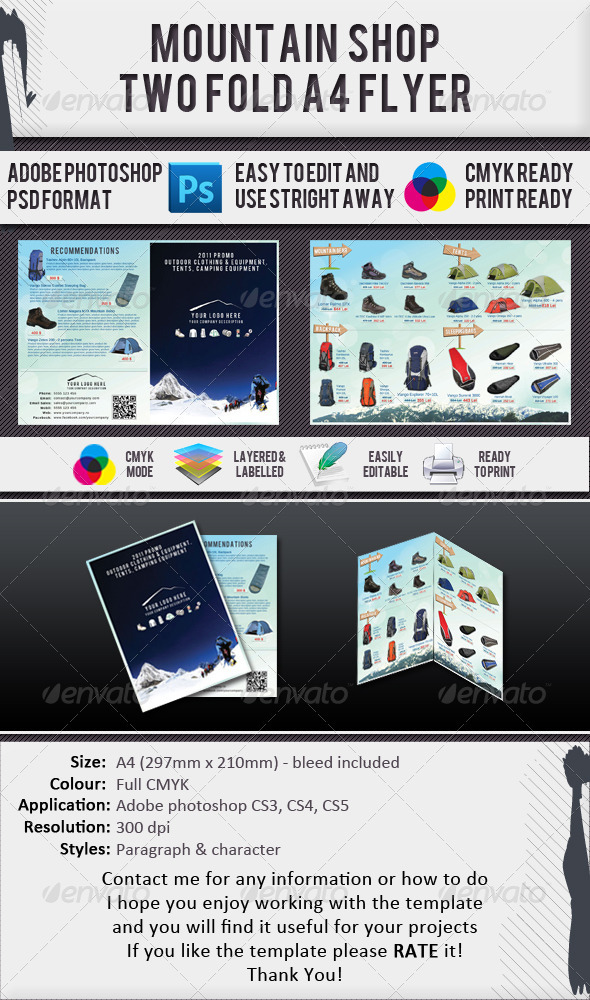 Mountain Gear Shop A4 2 Fold Brochure