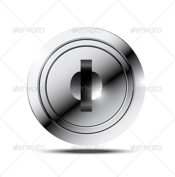 Metallic Keyhole - Decorative Symbols Decorative