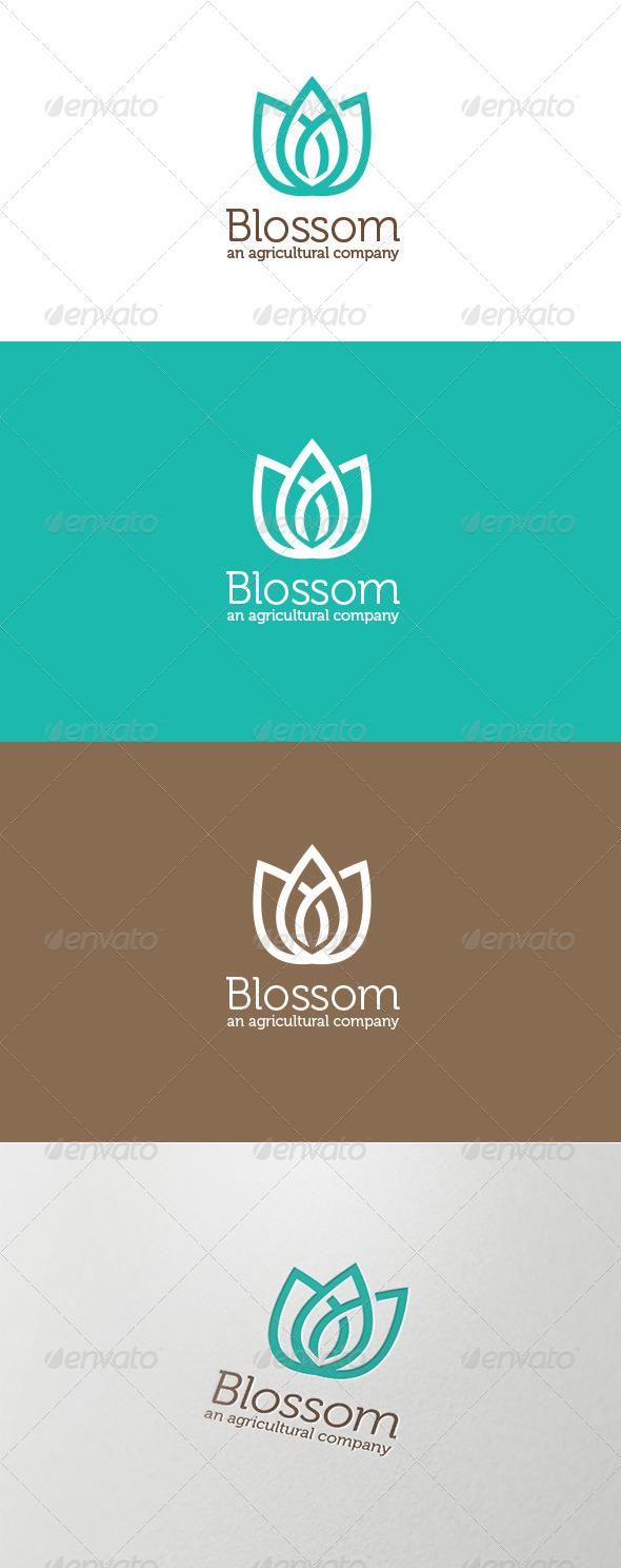 GraphicRiver Blossom Agricultural Logo 5869628