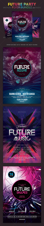 GraphicRiver Future Party Flyer Bundle Vol3 5869723