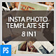 Insta Photo Templates (8 in 1) - GraphicRiver Item for Sale