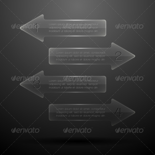 GraphicRiver Glass elements of infographics 5869748