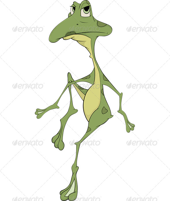 GraphicRiver Green Frog Cartoon 5869806