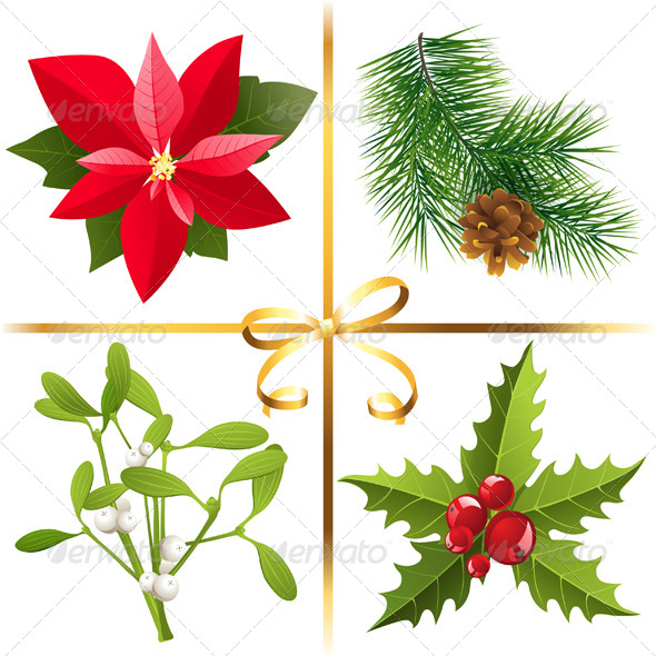 GraphicRiver Christmas Plants 5869823