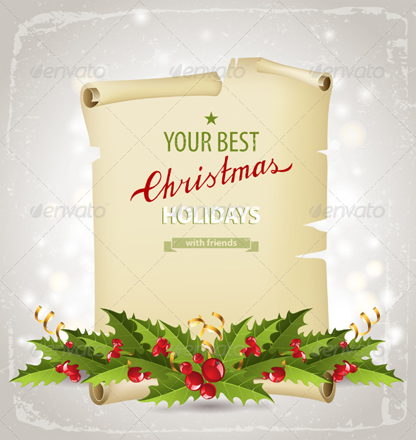 GraphicRiver Christmas Background 5869826