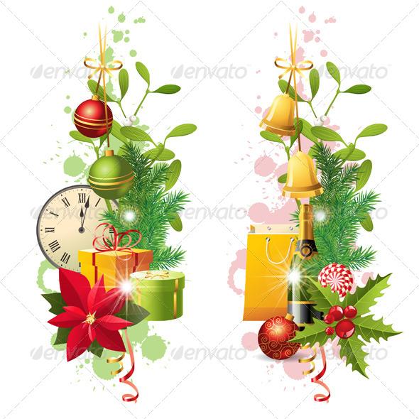 GraphicRiver Christmas Borders 5869847