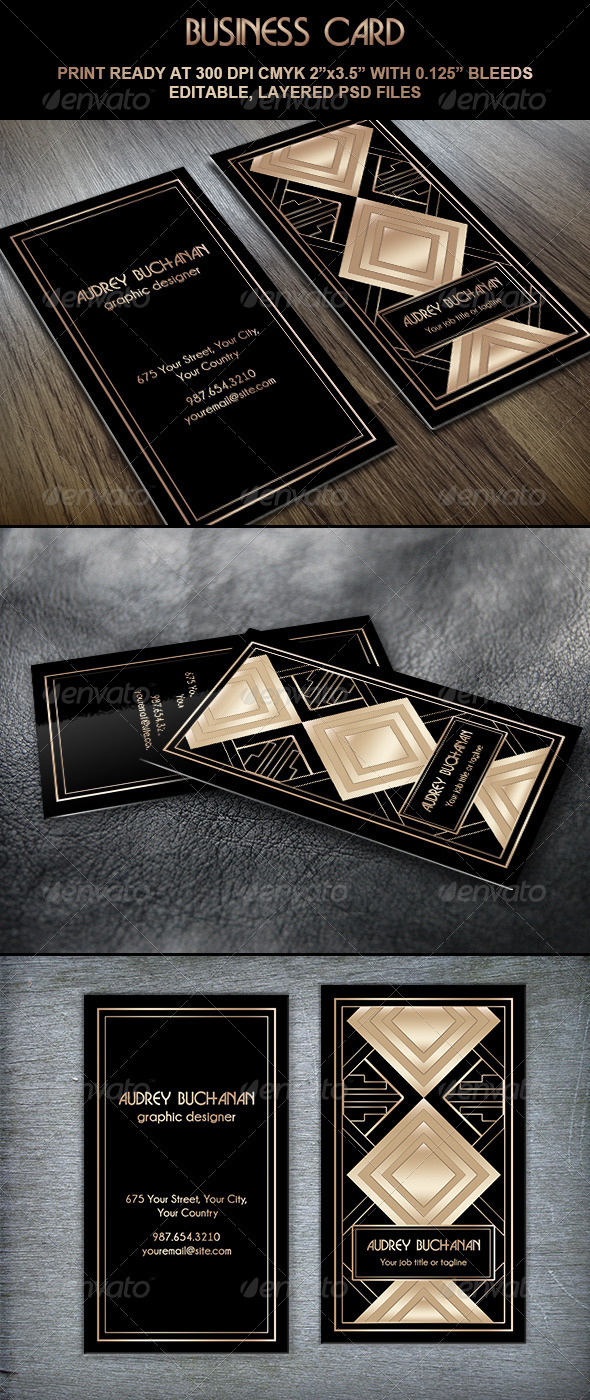 GraphicRiver Business Card Art Deco Style II 5869850