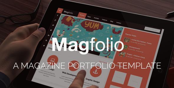 ThemeForest Magfolio Responsive Magazine Blog Site Template 5869866