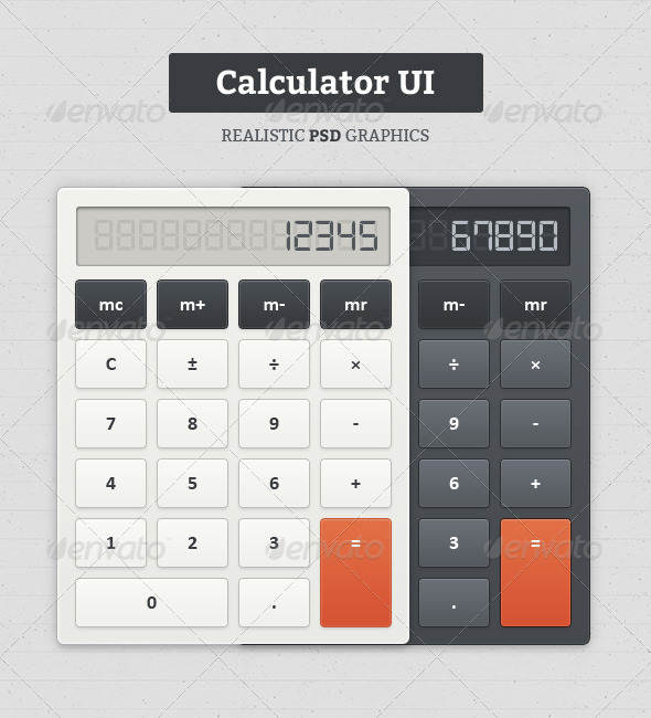GraphicRiver Calculator UI 5869892