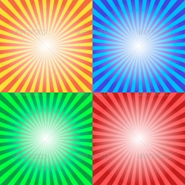 GraphicRiver Color Sun Sunburst Background 5869898