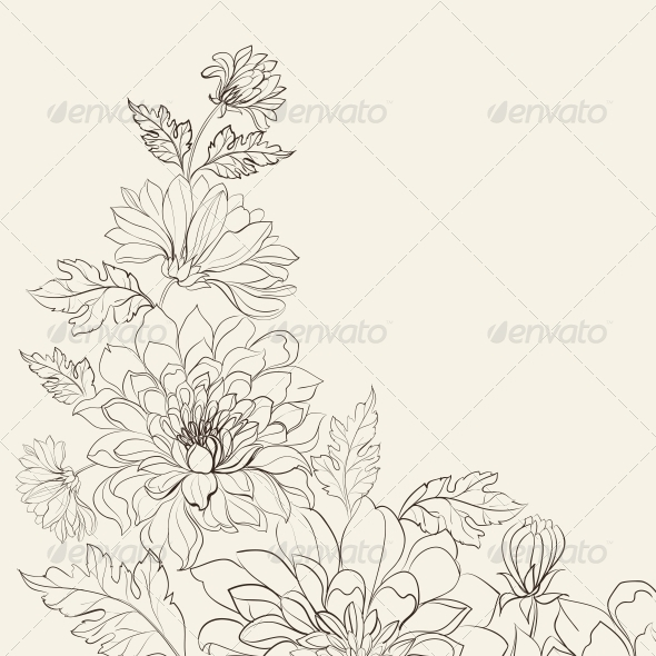 GraphicRiver Branch of Chrysanthemum 5870329