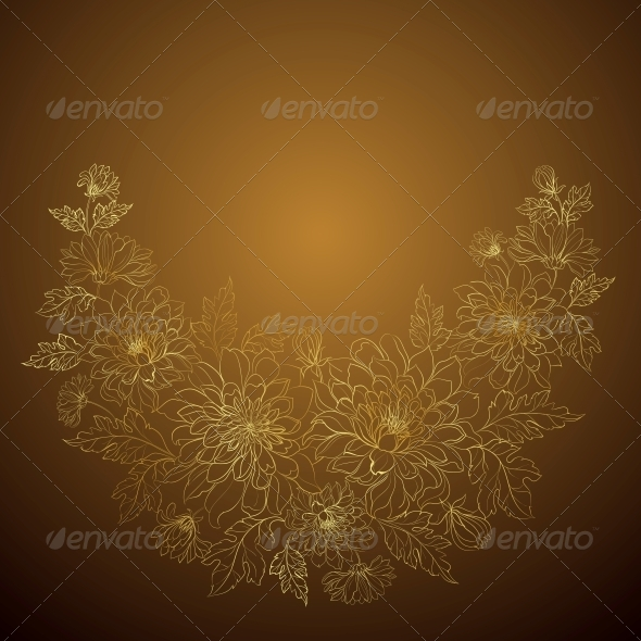 GraphicRiver Flowers Isolated on Dark Background 5870608