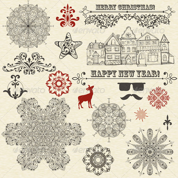 GraphicRiver Vector Christmas Design Elements 5870639