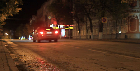 Night City Road Traffic