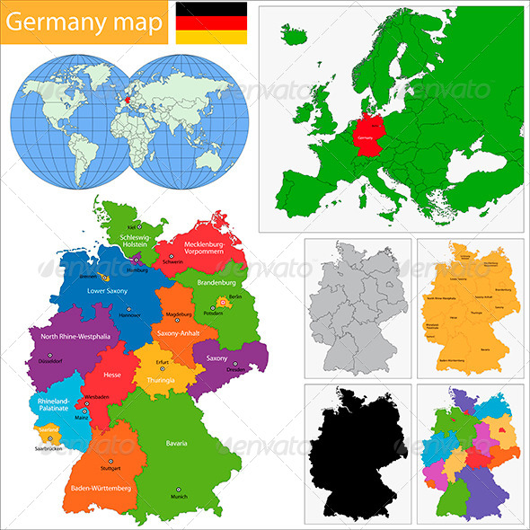 GraphicRiver Germany Map 5863674