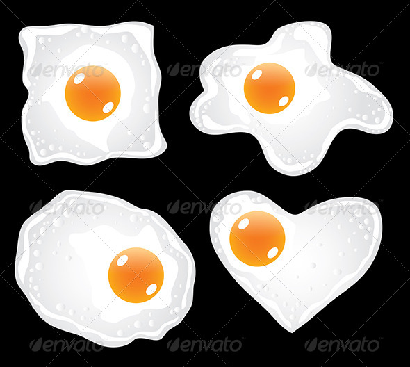GraphicRiver Fried Eggs in Different Forms Vector Set 5870869