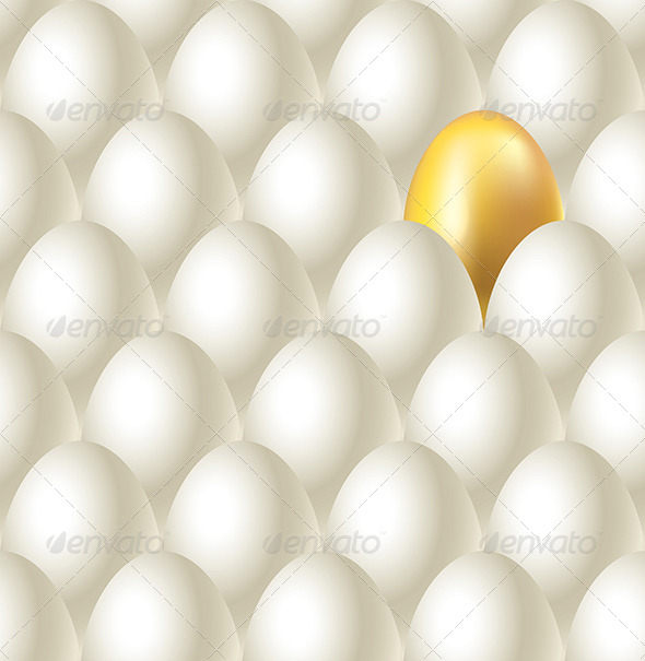 GraphicRiver Eggs and Golden Egg Seamless Background 5870873
