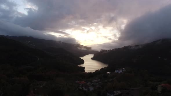 VideoHive Amazing Mountain and River Sunset with Fog 18983254