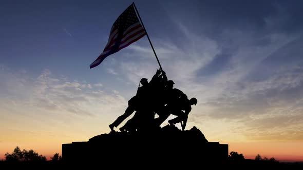 Download Iwo Jima Memorial Washington Dc Predawn nulled download