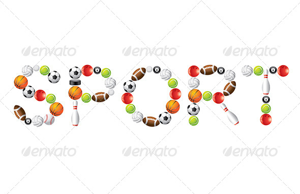 GraphicRiver Sport Word from Balls Vector 5870946