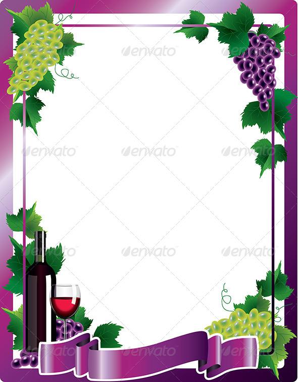 GraphicRiver Wine Frame Background Vector Illustration 5870967