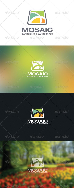 GraphicRiver Mosaic Garden & Landscaping Logo 5871000