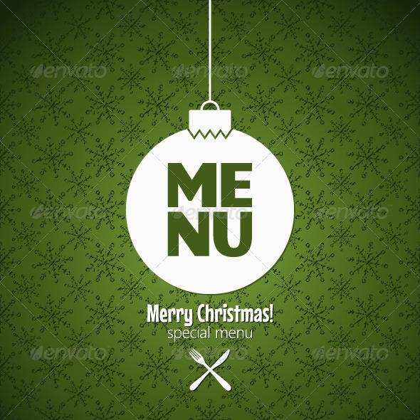 GraphicRiver Winter Holidays Special Menu Design 5871225
