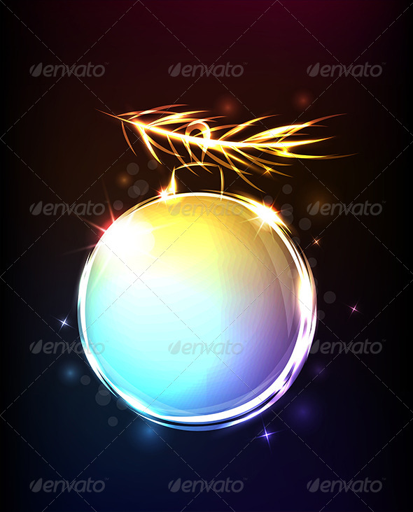 GraphicRiver Background with Shining Ball 5871237