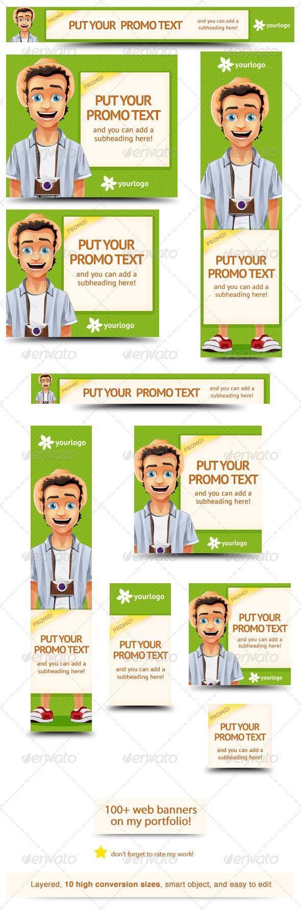 GraphicRiver Travel Promo Web Banner Design 5871266