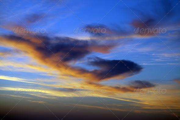 Multicolor sunrise sky - Stock Photo - Images