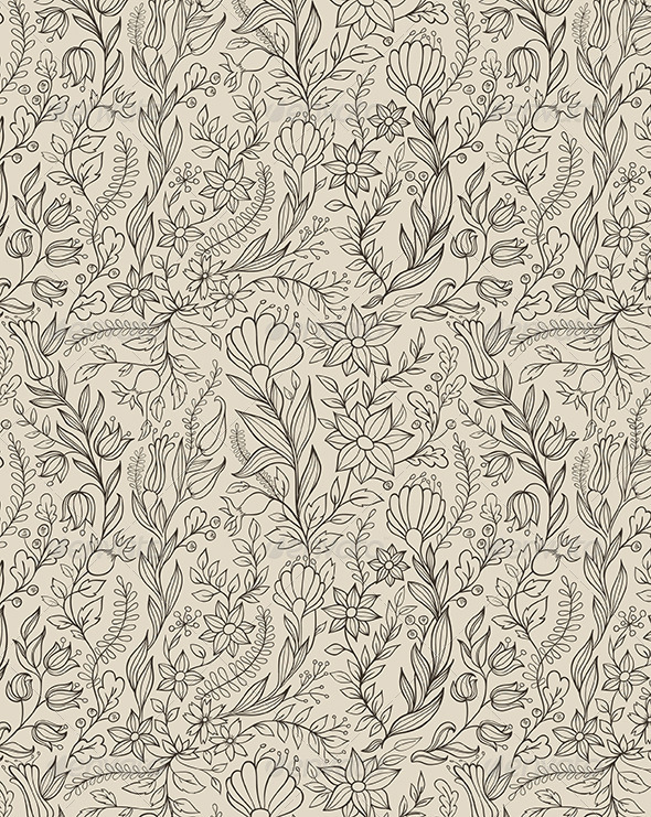 GraphicRiver Floral Seamless Pattern 5871355