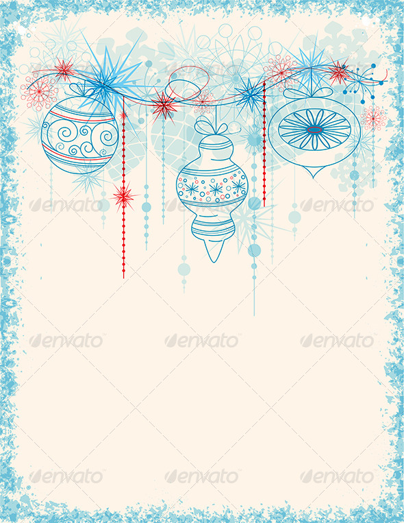 GraphicRiver Blue Christmas Decorations 5871526