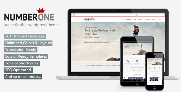 ThemeForest NumberOne Premium Multi-Purpose & Onepage Theme 5871601