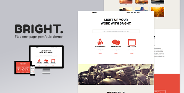 Bright - One Page Muse Theme - Creative Muse Templates