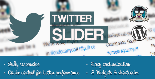 CodeCanyon Twitter slider & User card for WordPress 5871651