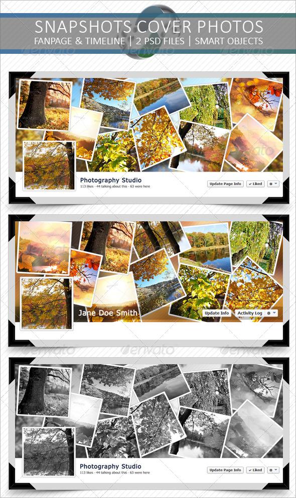 GraphicRiver Snapshots Facebook Cover Photos 5871859