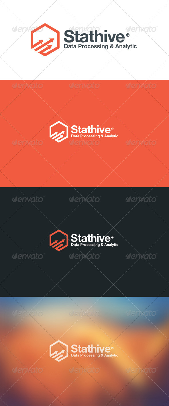GraphicRiver Stat Hive Data Analytic Logo 5871881