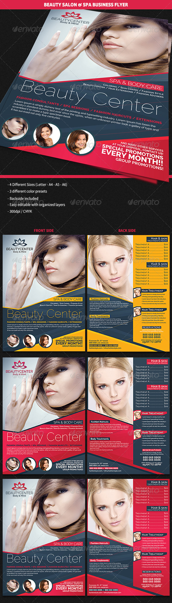 Pedicure And Manicure Flyer Template